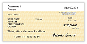 Image of a cheque